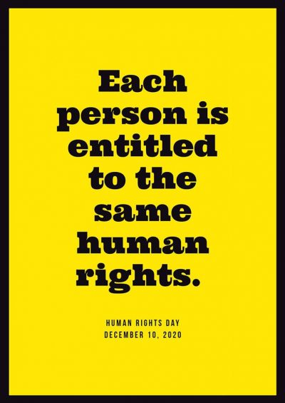 Everyone deserves access to equal, unrestricted rights. This is a reminder that we still have a long way to go.